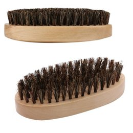 shaved hair styles Australia - Hot SaleBeard Shaping Beard Brush Sexy Man Gentleman Beard Trim Template Grooming Shaving Comb Styling Tool Wild Boar Bristles free shipping
