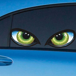 $enCountryForm.capitalKeyWord Australia - Creative Eyes Terror Stickers Car Sticks Reflective Rearview Mirrors Side Window Rear Window Paste Decals