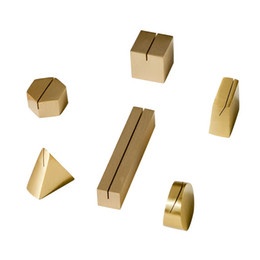 Menu Holder Stand UK - Ins figures Nordic gold Wedding Party Reception Place Card Holder Stand Number Name Table Menu Picture Photo Clip Card holder