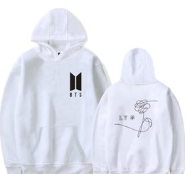 Bts alBums online shopping - Korean kpop bts love yourself album women hoodies sweatshirts Bangtan Boys Fleece Hooded jacket men k pop clothes Streetwear XL