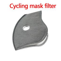 Ingrosso In bicicletta maschere di filtro a 5 strati di filtrazione Attivato protezione contro il vento di carbonio antipolvere Splash Proof liberamente da DHL