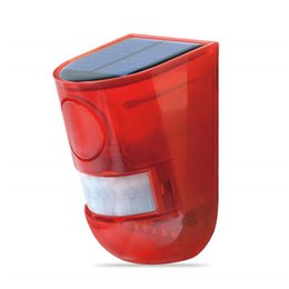 $enCountryForm.capitalKeyWord UK - Solar Strobe Lights Motion Sensor Security Alarm 6LED Light Loud Siren for Personal Farm Villa Apartment Outdoor Yard