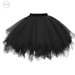 Mini tutus online shopping - Skirts Women Ball Gown Solid Ballet Dancing Mini Tulle Skirt Girls Tutu Skirt Clothes Black Pink Mar23