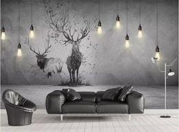 $enCountryForm.capitalKeyWord Australia - 3D Wallpaper 3D stereo chandelier elk Background Wall Mural Living Room Bedroom Home Decor Wall Paper For Walls 3D Papel De Parede