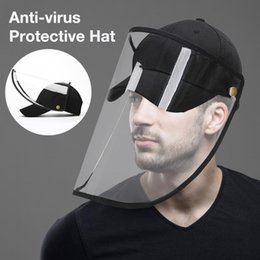 anti dust caps Australia - Dustproof Windproof Mesh Design Baseball Cap Face Protection Detachable Shield Screen Mask Anti-Dust Peaked Hat
