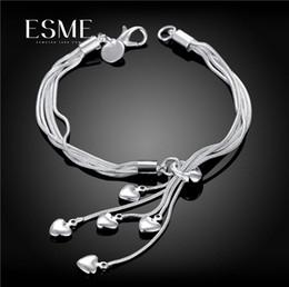 $enCountryForm.capitalKeyWord Australia - 925 silver plated hanging heart bracelet Tai Chi Tassel Luxury Jewelry Luxury heart-shaped silver bracelet Fashion unique 2019 new style