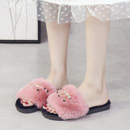 $enCountryForm.capitalKeyWord Australia - Adisputent 2019 Home Slippers Woman Soft Plush Shoes Pantufa Coral Velvet Warm Shoes For Women Winter Indoor Cotton Slipper