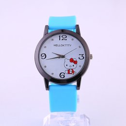 9d9815b8e 2019 Best Sell Brand Crystal kitty Cartoon Quartz Watch New Fashion Women Watches  Hello Kitty Children WristWatches reloj mujer