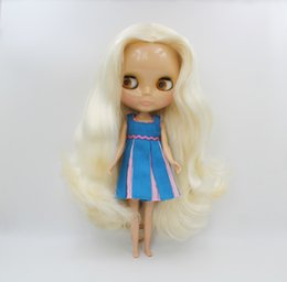 cat doll big eye Australia - Free Shipping big discount RBL-547 DIY Nude Blyth doll birthday gift for girl 4colour big eye doll with beautiful Hair cute toy T200428