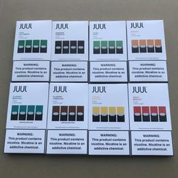 Новый пакет 8 вкусов JUUL стручки манго прохладный Мята фрукты попурри прохладный огурец крем брюле 4 стручка многоразового стручка картридж
