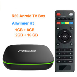 Discount ott tv box android player R69 Smart Android 7.1 TV Box 2G 16G Allwinner H3 Quad-Core 2.4G Wifi Set Top Box Media Player Ott Android Box
