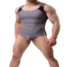 $enCountryForm.capitalKeyWord NZ - Leotard Mankini Swimsuit Undershirt Men Underwear Slimming Vest Tights Male Singlet Swimwear One Piece Bodysuit Brand Jumpsuit