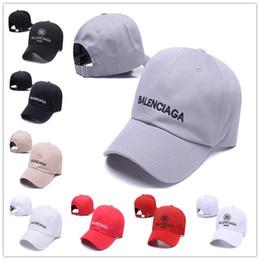 Опт Balenciaga Ball Hats Luxury Унисекс Бниб Snapback Марка Бейсболка Мужчины женщины Спортивный футбольный дизайнер костяные горсы Sun Casquette Hat