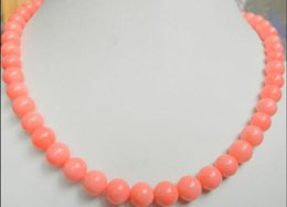 8mm Red Coral Beads Australia - Necklace Jewelry Necklace pink coral 8mm round beads