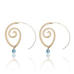 Mode Spiral Helix Creolen Schmuck für Frauen und Mädchen im Angebot