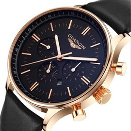 $enCountryForm.capitalKeyWord Australia - High Quality Luxury Fashion Double Calendar Waterproof Night Light Belt Multifunctional Men's Watch Quartz Watch Student Watch