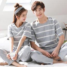 dc4fd68cf5 Big Size M-3XL Pyjamas Summer Couple Pajamas Set Men And Women Sleepwear  Cute Cartoon Short Sleeve Home Clothing