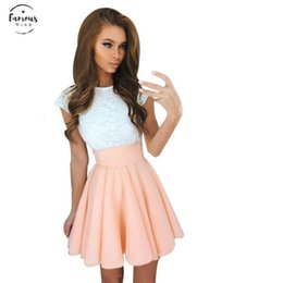 Wholesale blue lace skater dress for sale – plus size Lace Sexy Women Dress Cute Summer Womens Ladies Sleeveless Party Skater Dresses Casual A Line Mini Dress Vestidos Designer Clothes