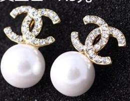 Großhandel New Luxury Brand Designer Ohrstecker Buchstaben Ohrstecker Ohrring Gold Silber Schmuck Zubehör Geschenk für Frauen Mädchen