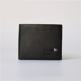 Chinese  Hot Sale Men Leather Retro Short Wallets Luxury Blanc MB High quality Best quality Men Wallet Short wallets Wholesale manufacturers