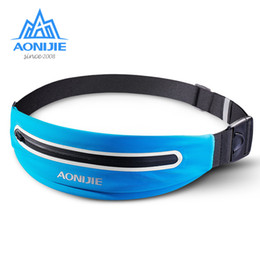 package cycles Australia - aonijie men ultralight cross country running sports bag women Walking package marathon cycling belt 6-inch mobile phone bag