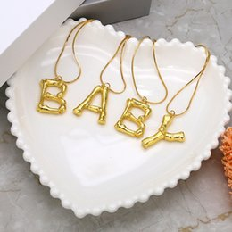 $enCountryForm.capitalKeyWord Australia - Classic fashion style alphabet initial letter charm necklace with golden color elctroplating of Letters A to Z