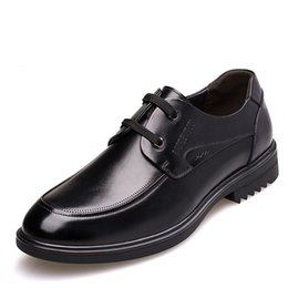 47cc26d1c3e16a Mens Casual Genuine Leather Derby Shoes With Hidden Insole Height  Increasing 6 CM Elevator Business Working Shoe