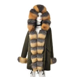 $enCountryForm.capitalKeyWord Australia - Tatyana Furclub New Fashion Parkas With Natural Fox Fur Collar Thick Warm Coat green Fur Jacket Luxury Casual Parka Outwear