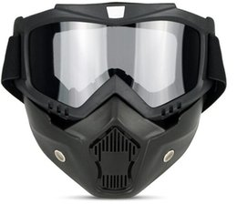 windproof motorcycle helmets Australia - Goggles mask retro riding goggles off-road motorcycle goggles windproof warm helmet glasses