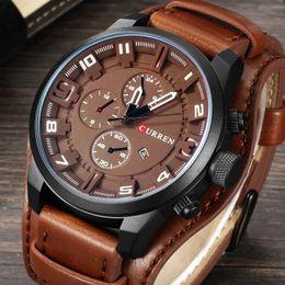 $enCountryForm.capitalKeyWord NZ - Relogio Masculino Curren Army Military Quartz Mens Watches Top Brand Luxury Leather Men Watch Casual Sport Male Clock Watch 8225 Y19051603