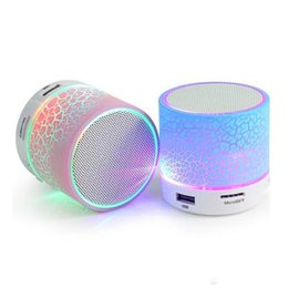 Free Sound For Mobile UK - Portable Mini Bluetooth Speakers Wireless Hands Free LED A9 Speaker TF USB FM Sound Music For iPhone X Samsung Mobile Phone