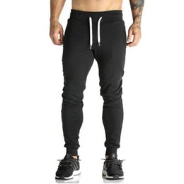 $enCountryForm.capitalKeyWord NZ - 2018 High Quality Joggers Pants Men Bodybuilding Gyms Sweatpants For Runners Brand Mens Clothing Autumn Sweat Trousers BritchesMX190902