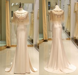 Silver Beaded Wrap Australia - A Line Elegant Evening Dresses With Wraps Luxury Beaded Girls Pageant Gowns Floor Length Formal Party Prom Dresses