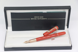 Pen Brands Australia - Germany brand Various Styles Fountain pen Red body With Rose gold Snake Trim School Office Stationery Luxury Writing Pens Gift