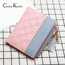 $enCountryForm.capitalKeyWord Australia - New ladies short wallet female zipper wallet fashion fresh Korean version of the large capacity tassel love stitching handbags