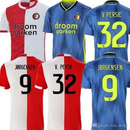 Thailand Shirts Australia - 19 20 Feyenoord soccer jersey home AWAY thailand QUALITY 2019 2020 V.PERSIE BERGHUIS VILHENA JORGENSEN 19 20 FEYENOORD JERSEY ADULT SHIRT