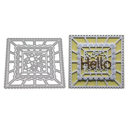 wholesale paper frames UK - Background Frame Dies Metal Cutting Dies for Scrapbooking DIY Album Embossing Folder Paper Card Maker Template Decor Stencils Crafts