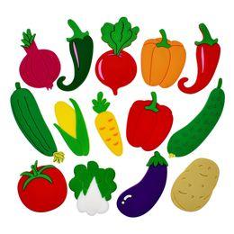 $enCountryForm.capitalKeyWord Australia - 14-Piece Lovely Cartoon Decorative Vegetables Soft PVC Fridge Magnets for Refrigerator