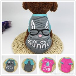 Small Dog T Shirts Australia - Spring Summer Dog Shirt Puppy Vest Dog T-shirt Funny Dog Costumes Pet Clothes Shirts For Small Dogs