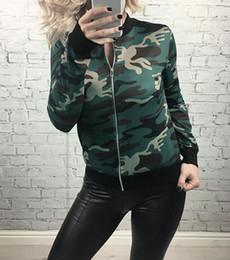 $enCountryForm.capitalKeyWord Australia - Women Fashion Jacket Nice New Spring Autumn Outerwear Motorcycle Zipper Camouflage Street Jacket Basic Femme Clothing Ws1511y