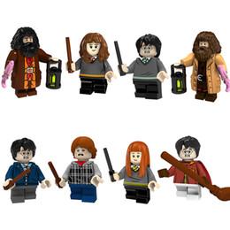 Harry Potter Blocks Australia - Harry Potter Hermione Granger Ginny Ron Weasley Rubeus Hagrid Mini Toy Figure Model Building Block Brick