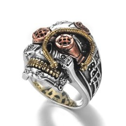 $enCountryForm.capitalKeyWord NZ - Hip Hop Style Mens Ring Fashion Designer Carved Skull Ring Trendy Personality Punk Style Alloy Rings