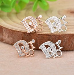 tibet products NZ - Hot new products inlaid zircon s925 silver zircon earrings women Super flash diamond English earrings earrings