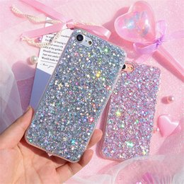 Wholesale Phone Case For iPhone X XR XS MAX S Plus Designer Bling Glitter TPU Protective Cover Cases