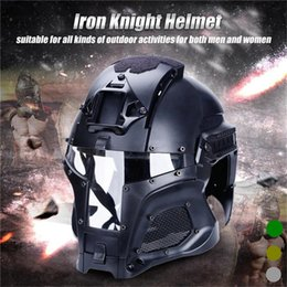 full face tactical mask 2020 - Hunting Helmet Outdoor Helmet Paintball CF Game Face Mask Tactical Protective Full Face cheap full face tactical mask