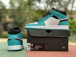 $enCountryForm.capitalKeyWord NZ - 2019 Authentic Quality Jumpman 1 OG South Coast Mens Basketball Shoes New Arrival 1s Blue White Training Sports Shoes Size EU40-46