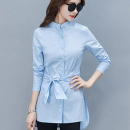 Wholesale peplum tops for sale – plus size 2019 Fall Women Shirts Fashion Chiffon Blouse Stripe Peplum Tops Women Bow Long Sleeve Blusas Mujer Fashion Rayas Chemise Femme