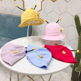 06daf5ba0817e Cute Baby Fisherman Sun Hat Children Cartoon Bee Bucket Hats Girls Outdoor  Casual Travel Sunshade Cap TTA922