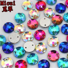 $enCountryForm.capitalKeyWord Australia - Micui 50PCS 8mm Sew on 2 Hole Round Crystal Rhinestones Glass Crystals For Clothes Dress Jewelry Decorations ZZ156