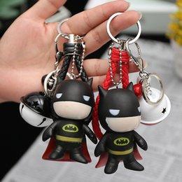Geflochtene Lederschnur kleine Glocke Schlüsselanhänger, geflochtene Lederschnur Tasche Anhänger, dunkle Ritter Schlüsselanhänger kleines Geschenk